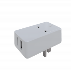 QC3.0 + 2.1A USB charger with UK AC socket