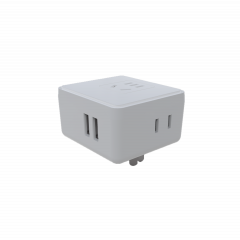 2 USB Wall charger with 3 AC socket