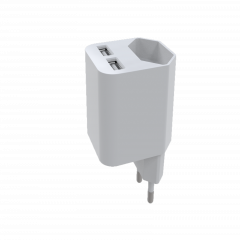 2 USB Wall charger with EU AC socket