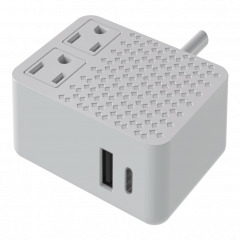 AC socket*2 with Type C PD + 1 USB wall charger