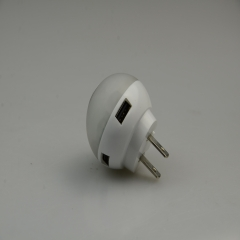 USB Wall Charger with LED light 2.1A USB 2Ports